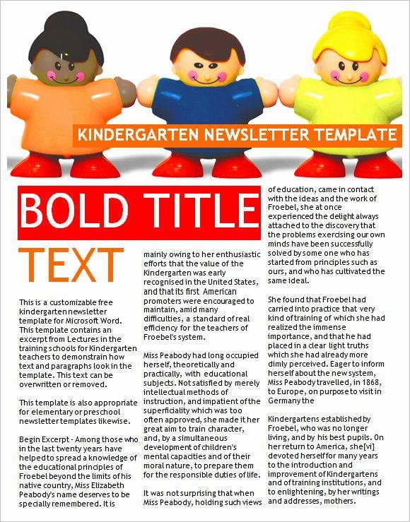 10 Sample Kindergarten Newsletter Templates