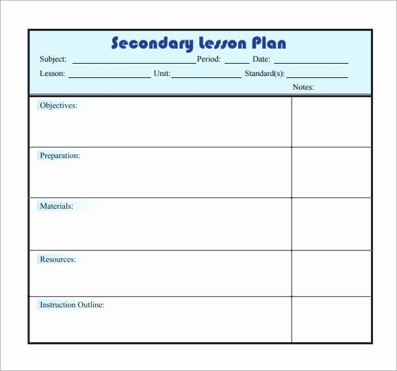 10 Sample Lesson Plans