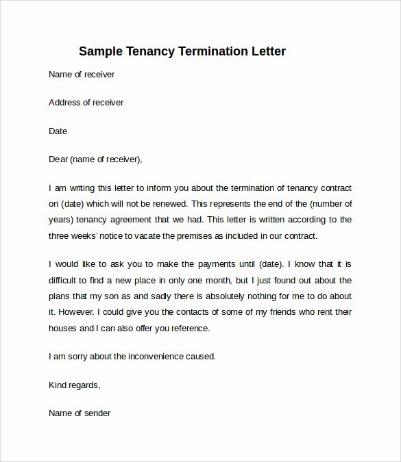 10 Sample Notice to Vacate Letters – Pdf Word