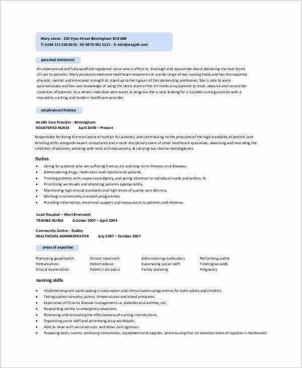 10 Sample Nursing Resumes