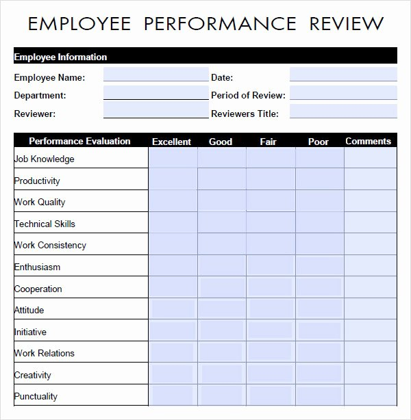 10 Sample Performance Evaluation Templates to Download
