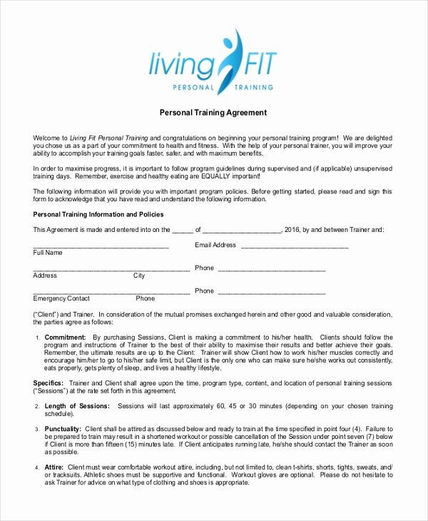 10 Sample Personal Agreement forms Free Sample Example