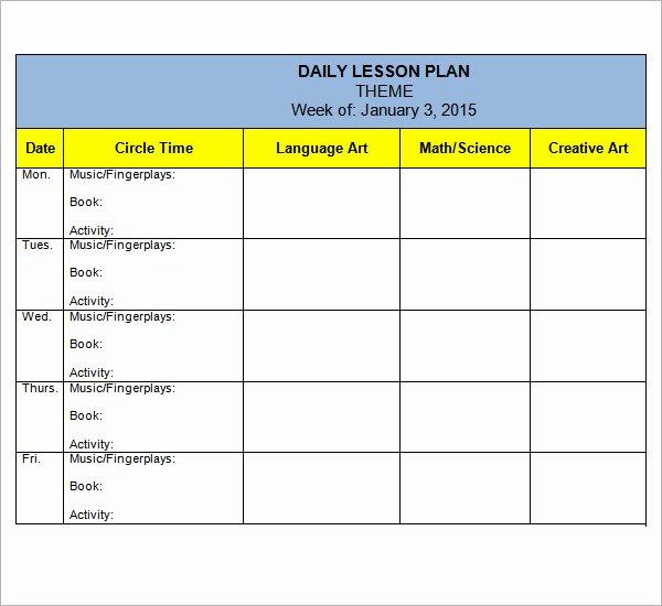10 Sample Preschool Lesson Plan Templates