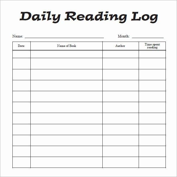 10 Sample Reading Log Templates – Pdf Word