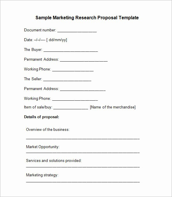 10 Sample Research Proposal Templates