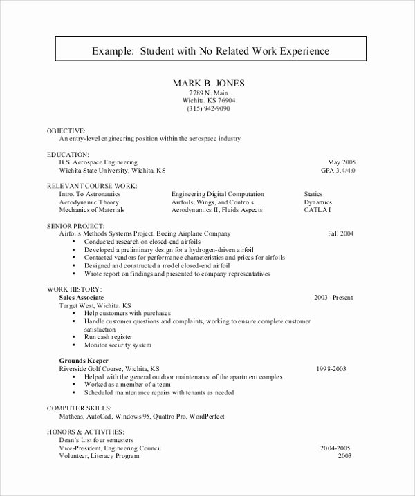 10 Sample Resume for College Students