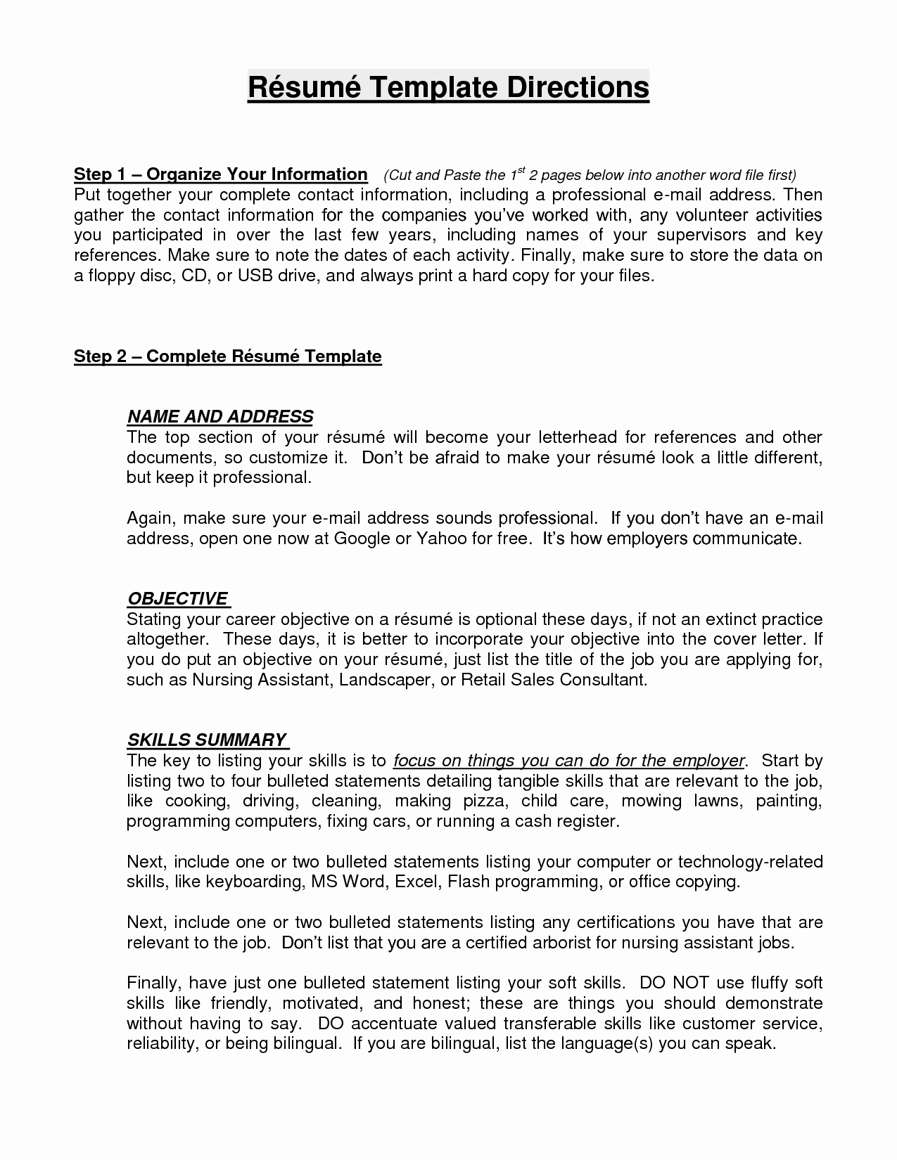 Resume Objective Examples Resume Cv Latter Example Template