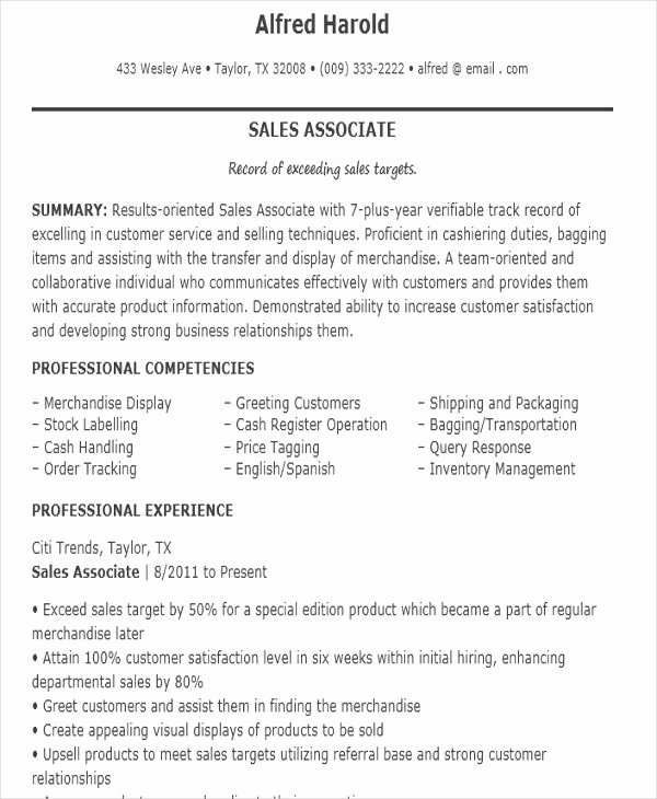 10 Sample Sales Job Resume Templates Pdf Doc