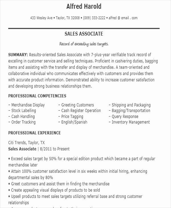 10 Sample Sales Job Resume Templates Pdf Doc