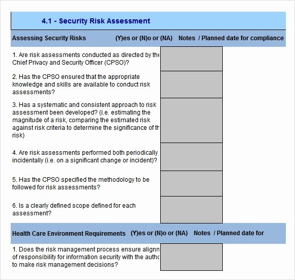 10 Sample Security Risk assessment Templates – Pdf Word