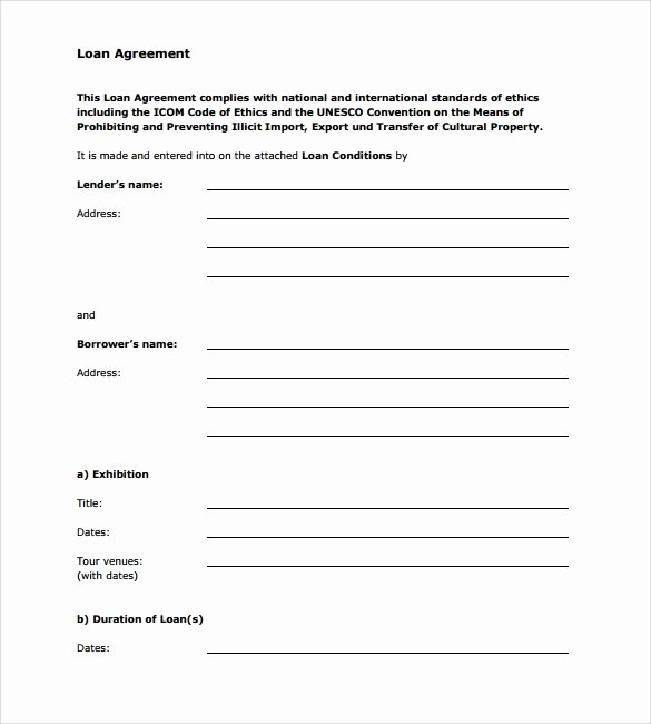 10 Sample Standard Loan Agreement Templates