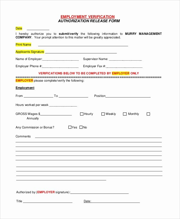 10 Sample Verification Of Employment forms