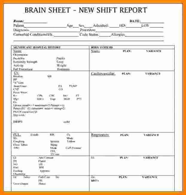 10 Shift Report Template