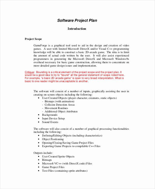 10 Simple Project Plan Templates Free Sample Example