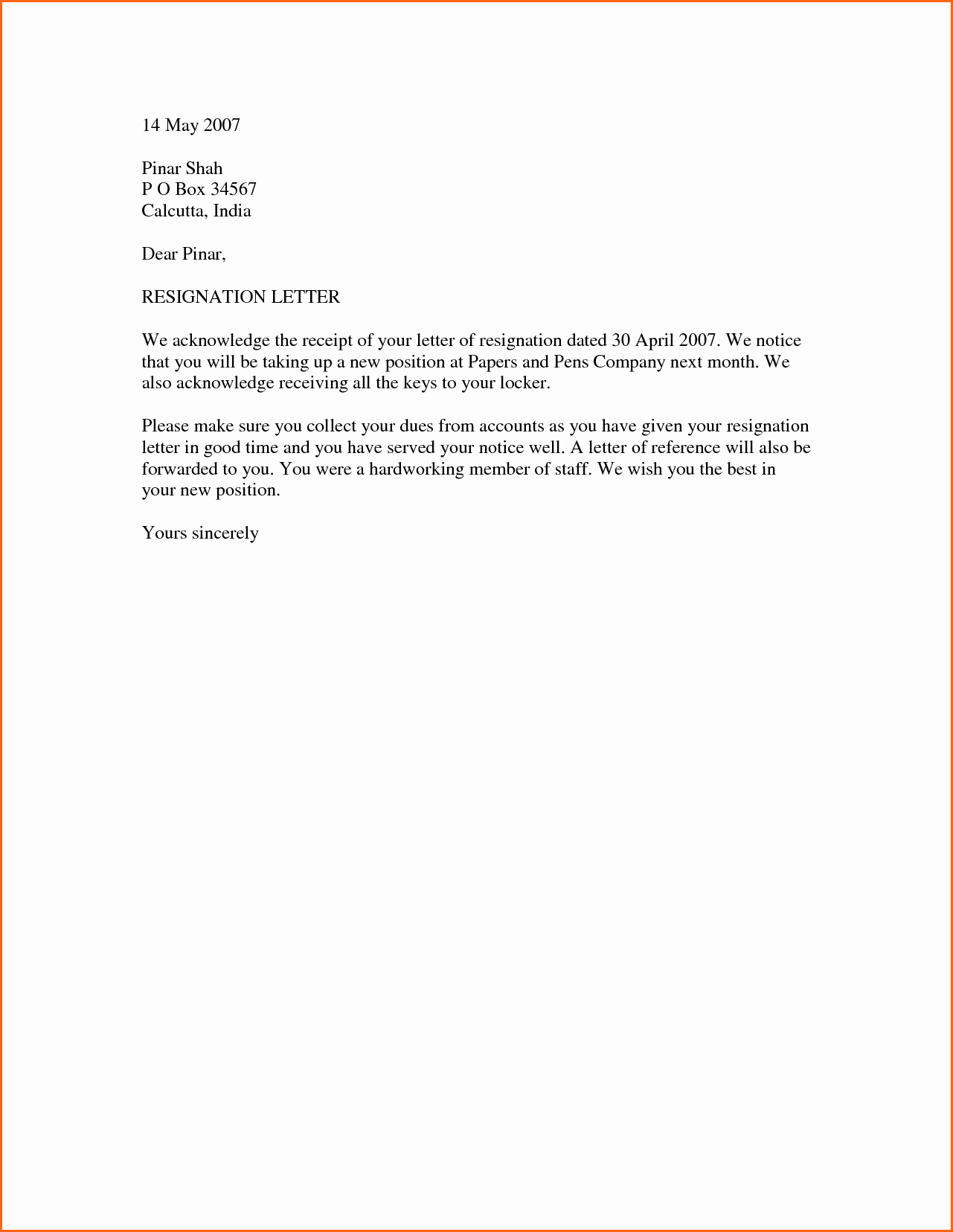 10 Simple Resignation Letter format Bud Template Letter