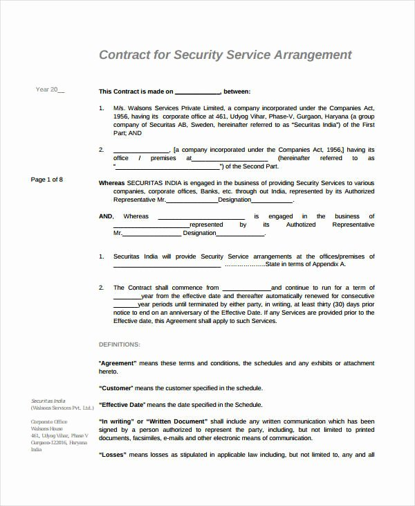 10 Simple Service Agreements Word Pdf