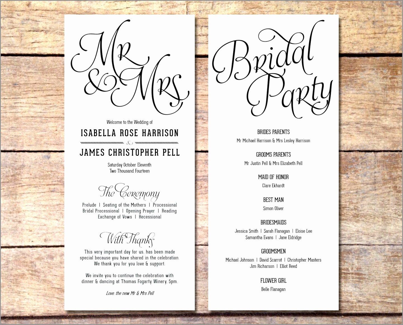 10 Simple Wedding Programs Templates Jonau