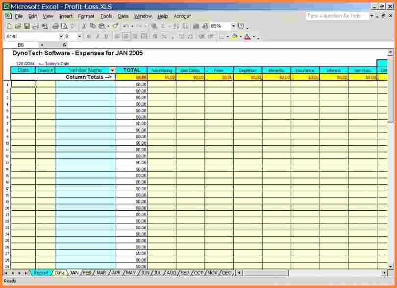 10 Small Business Spreadsheet
