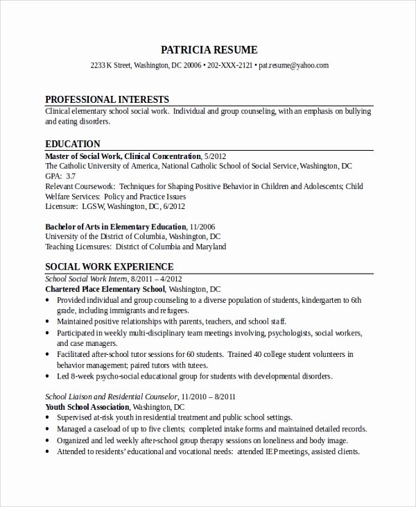 10 social Worker Resume Templates