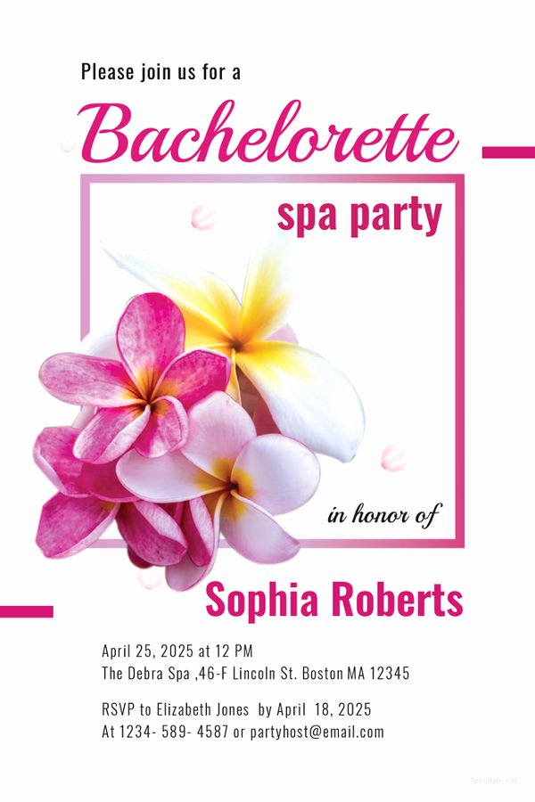10 Spa Party Invitations Free Sample Example format