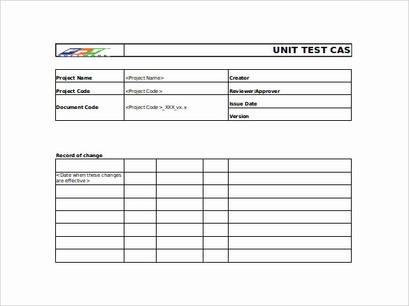 10 Test Case Templates – Free Sample Example format