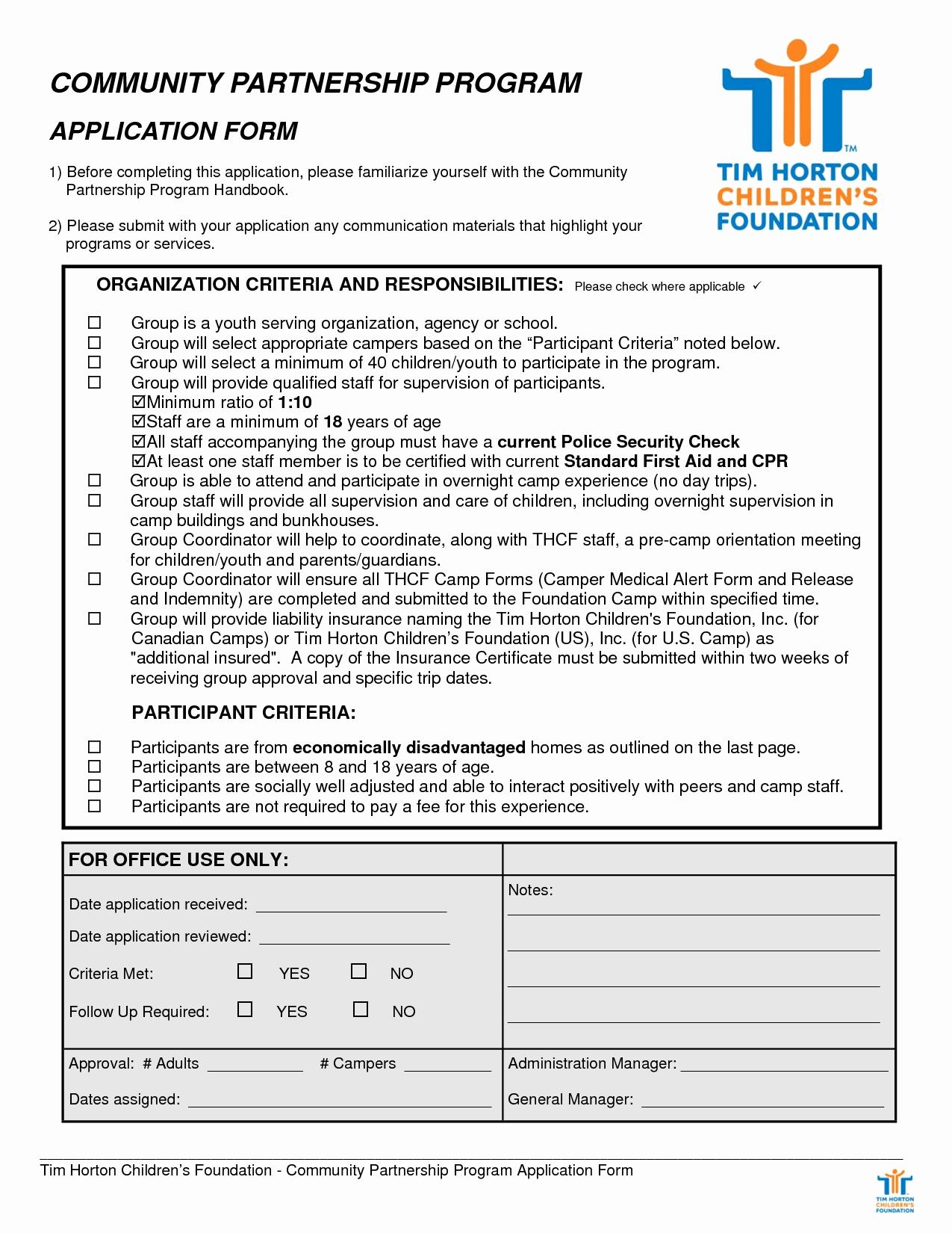 10 Tim Hortons Application form Samplebusinessresume