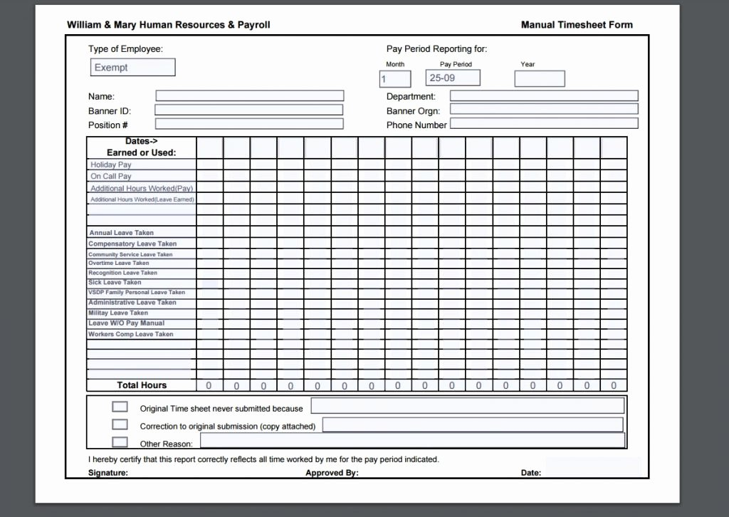 10 Timesheet Template Examples