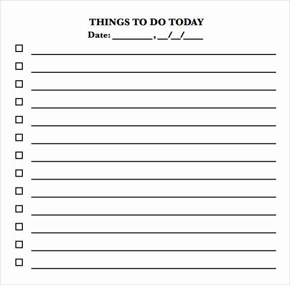 10 to Do Checklist Samples