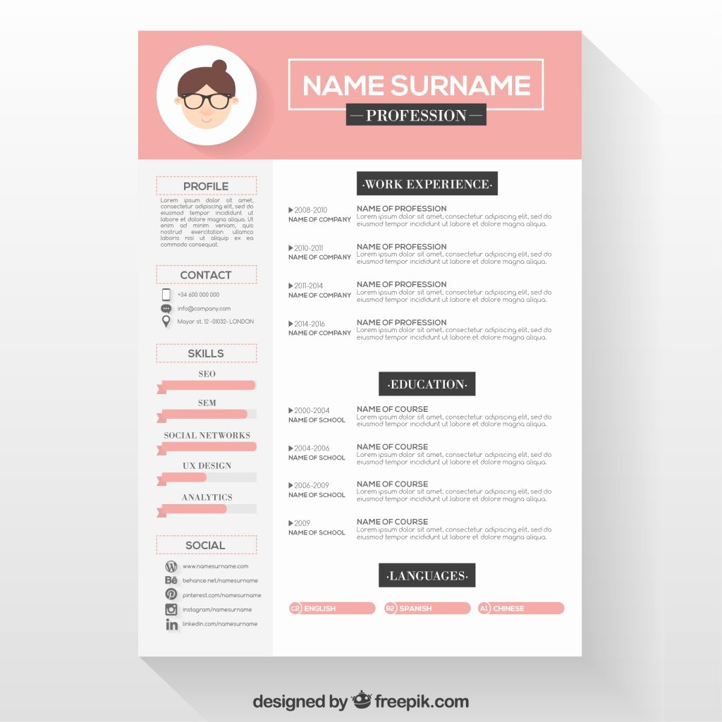 10 top Free Resume Templates Freepik Blog