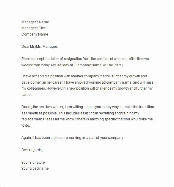 10 Two Weeks Notice Letter Templates Pdf Doc