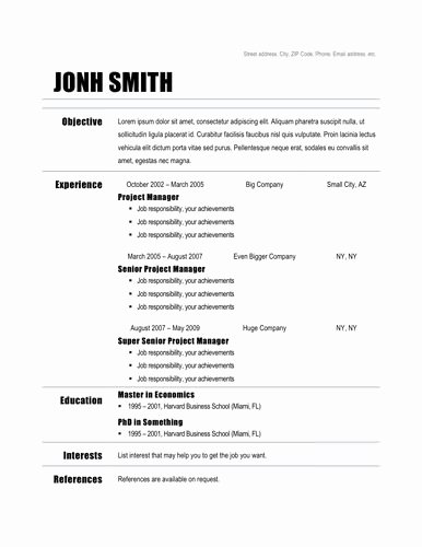 10 Useful Free Resume Template Google Docs