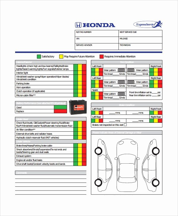 10 Vehicle Inspection Checklist Templates – Pdf Word