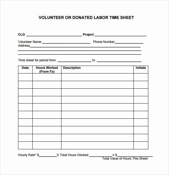 10 Volunteer Timesheet Samples