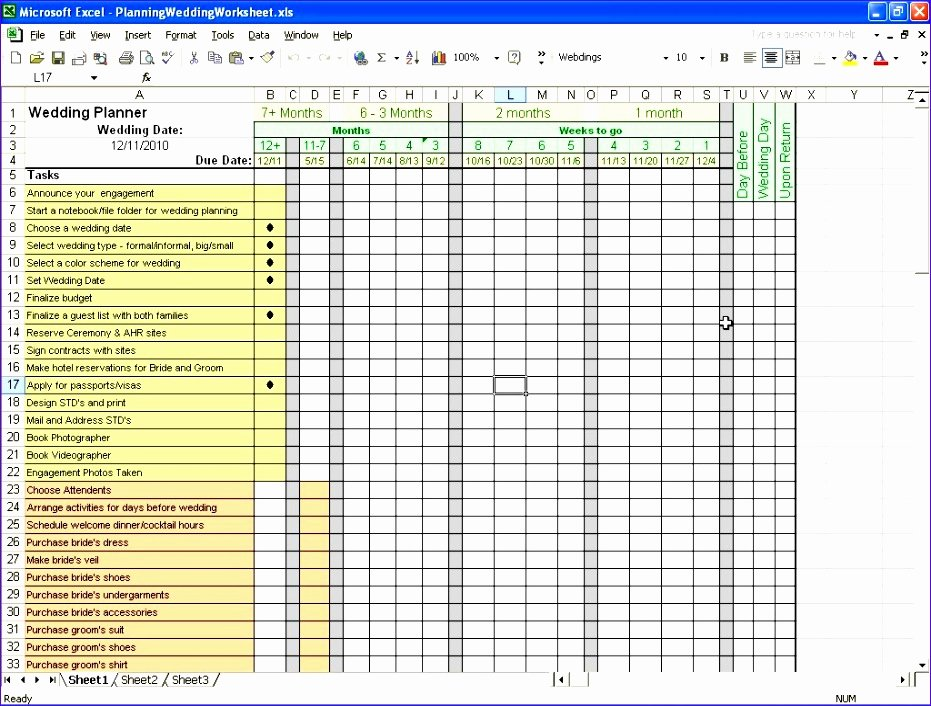 10 Wedding Bud Planner Excel Template Exceltemplates