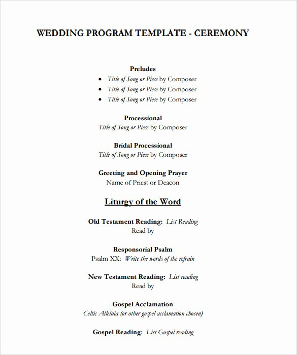 10 Wedding Program Templates to Download for Free