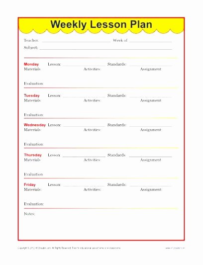 10 Weekly Lesson Plan Templates for Elementary Teachers