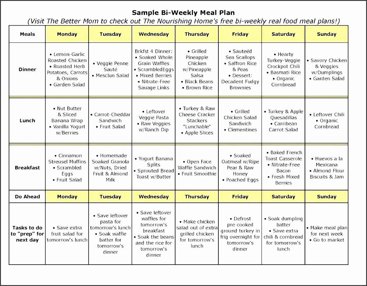 10 Weekly Meal Planner Example Sampletemplatess