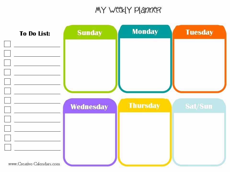 10 Weekly Planner Templates Word Excel Pdf formats