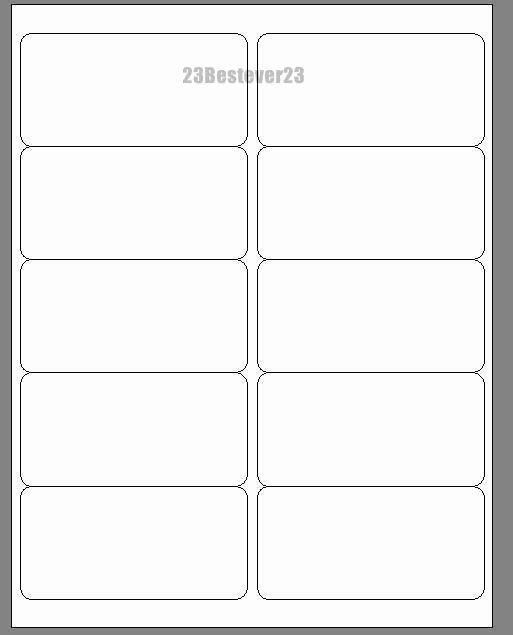 "100 Blank 2"" X 4"" White Address Laser Mailing Return"