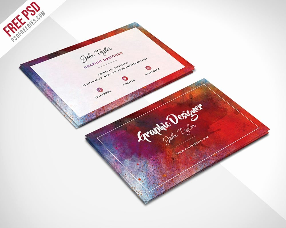 free business cards psd
