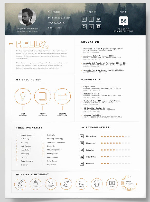 100 Free Resume Templates [ Psd Word ]