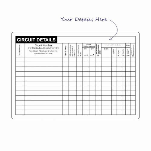 100 X Circuit Detail Label