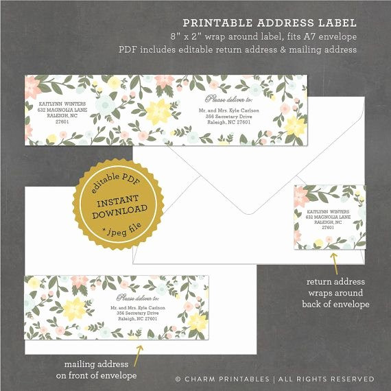 1000 Ideas About Address Label Template On Pinterest
