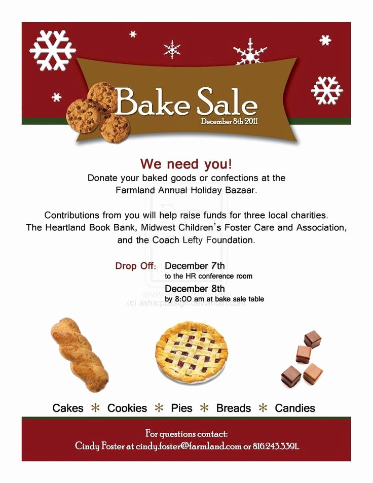 1000 Ideas About Bake Sale Flyer On Pinterest