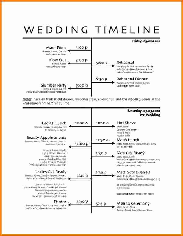 1000 Ideas About Wedding Itinerary Template On Pinterest