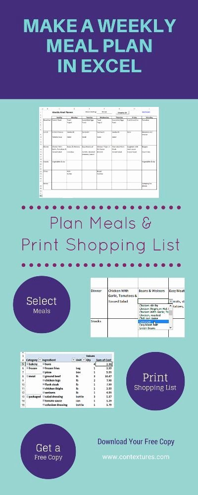 1000 Ideas About Weekly Meal Planner On Pinterest
