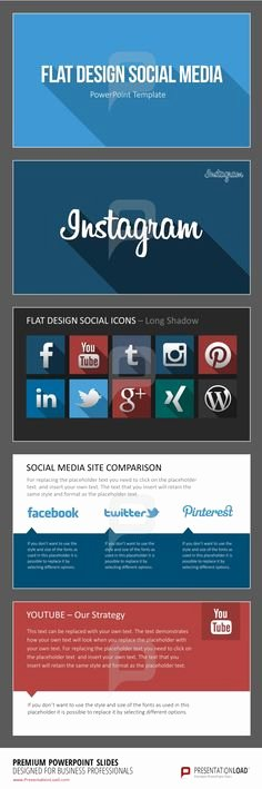1000 Images About Flat Design Powerpoint Templates On
