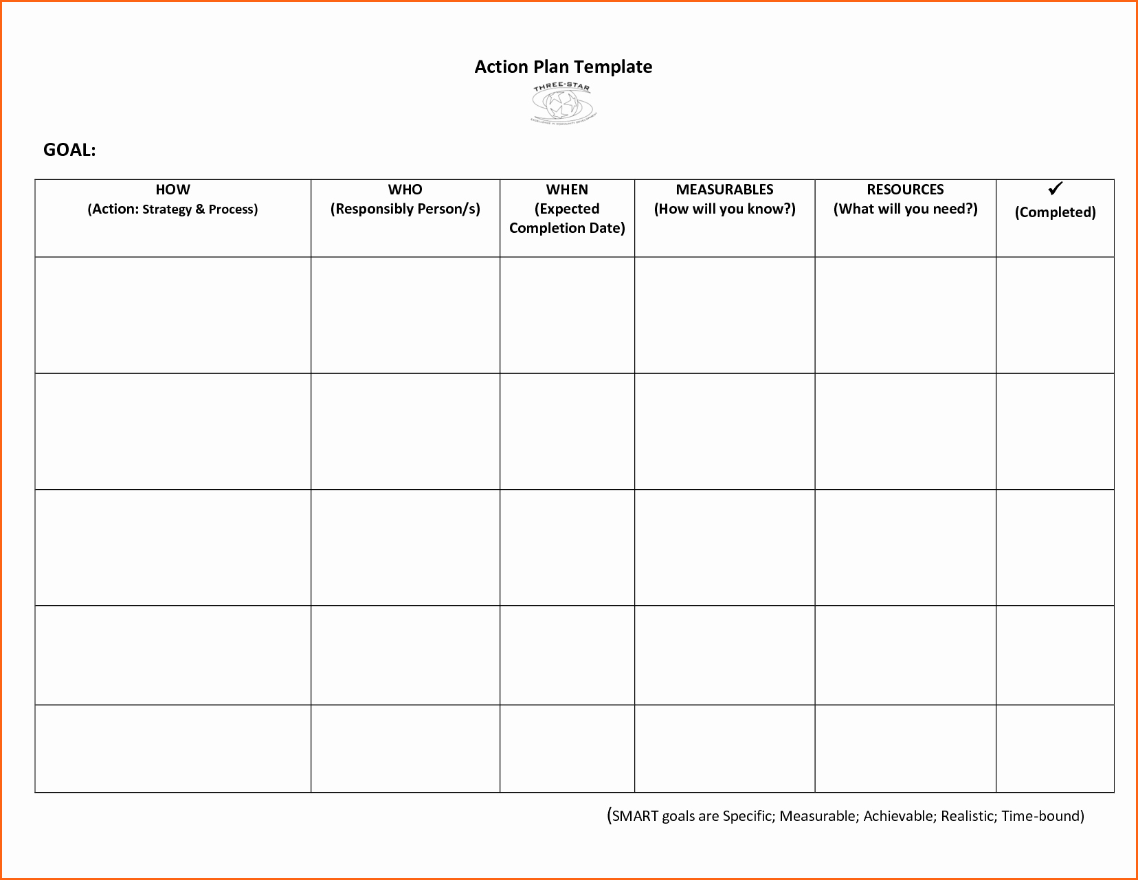 11 Action Plan Template Bud Template Letter
