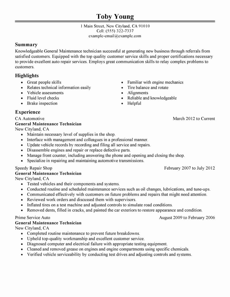 11 Amazing Automotive Resume Examples