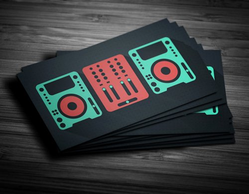 11 Amazing Business Card Templates for Dj S